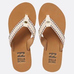 Billabong White Arrow Baja Sandals 8.5